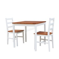 FoxHunter Solid Pine Wood Dining Table With 2 Chairs Set ...