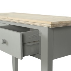 Grey Wood Kitchen Table Exhaust Hood Cleaning Certification Foxhunter Console 2 Drawers Hallway Storage