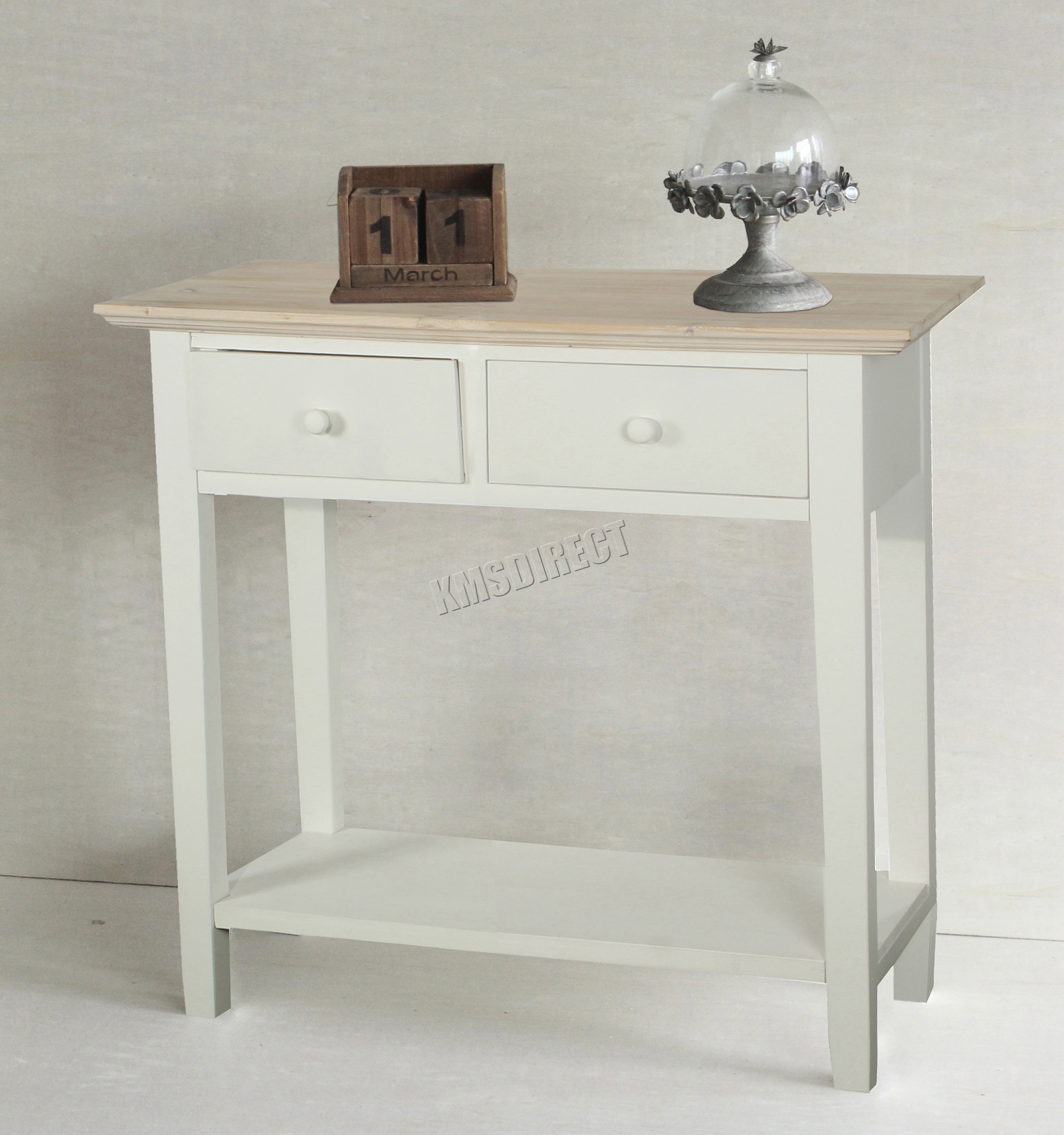 kitchen storage table farmhouse islands foxhunter console 2 drawers wood hallway side