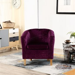 Purple Crushed Velvet Bedroom Chair Cracker Barrel Rocking Chairs Coupon Foxhunter Crush Fabric Tub Armchair Lounge
