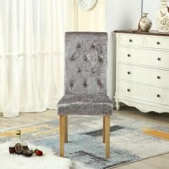 High Back Velvet Chair Uk Pb Desk Chairs Foxhunter Crush Fabric Dining Scroll