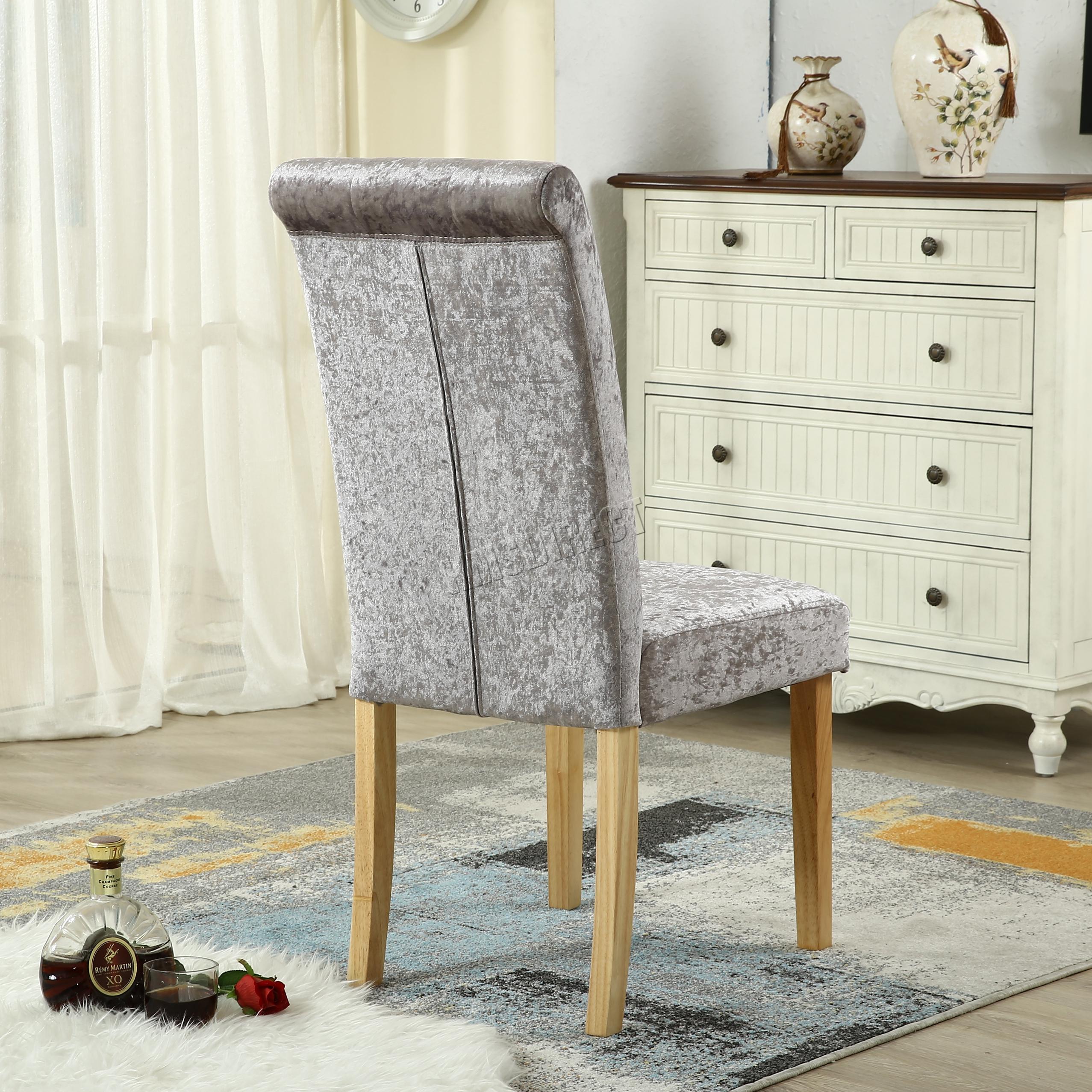 high back grey velvet dining chairs original guitar chair foxhunter crush fabric scroll