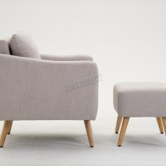 Next Day Sofas Customer Reviews How To Clean A Leather Sofa With Mold Foxhunter Fabric Armchair Lounge Tub Chair Foot Stool