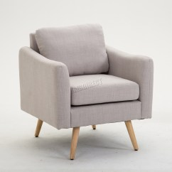 Grey Modern Armchairs Does Medicare Pay For Shower Chairs Foxhunter Fabric Armchair Lounge Tub Chair With