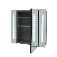 FoxHunter LED Illuminated Mirror Bathroom Cabinet Steel ...