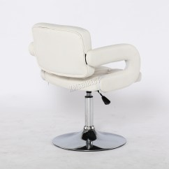 White Hair Styling Chairs Black Metal Foxhunter Beauty Salon Chair Barber Hairdressing Cut