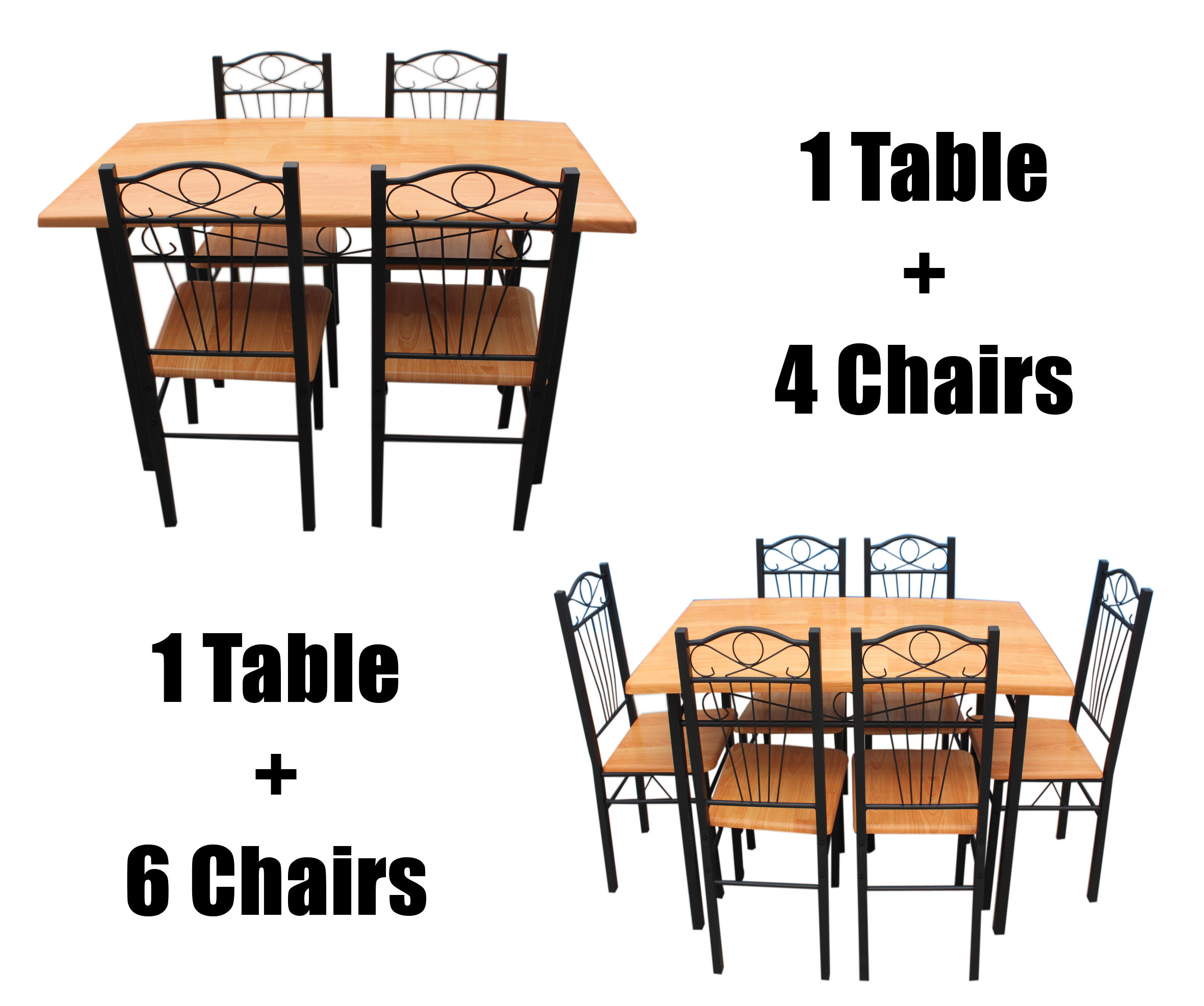 metal kitchen chair cotton dining covers uk new set with table chairs frame wood