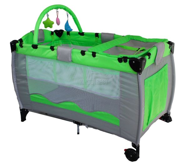 Green Infant Baby Child Travel Bed Bassinet Play Pen