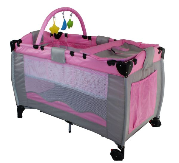 Pink Infant Baby Child Travel Bed Bassinet Play Pen