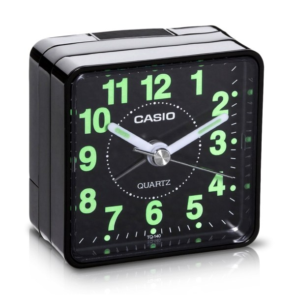 Casio Travel Quartz Beep Alarm Clock Tq140-1 Black