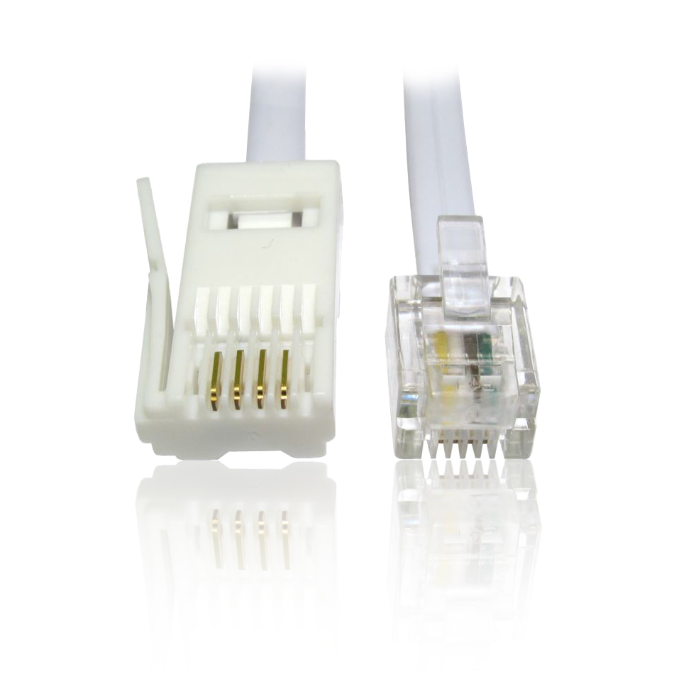 hight resolution of 10m 33 feet rj11 rj 11 plug to bt plug 4 wire crossover data cable for 56k modem