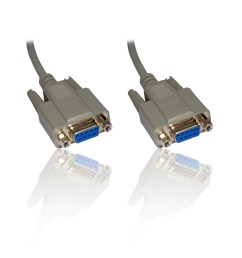 10m 33ft null modem serial db9 female rs232 rs 232 9pin to 9 pin cable lead wire [ 1000 x 1000 Pixel ]