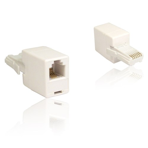 small resolution of female rj11 rj 11 socket to male bt plug telephone phone adapter straight wired