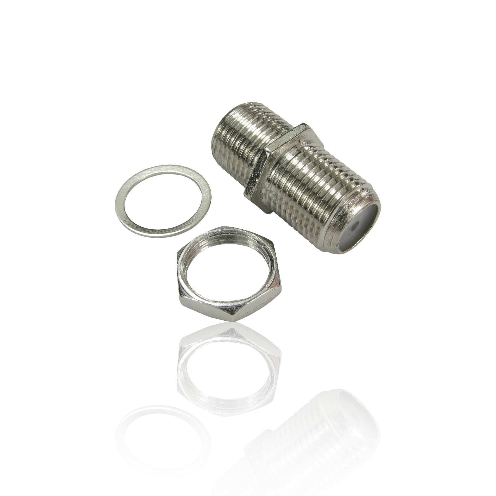 F Type Connector Satellite Cable F F Coupler Joiner With