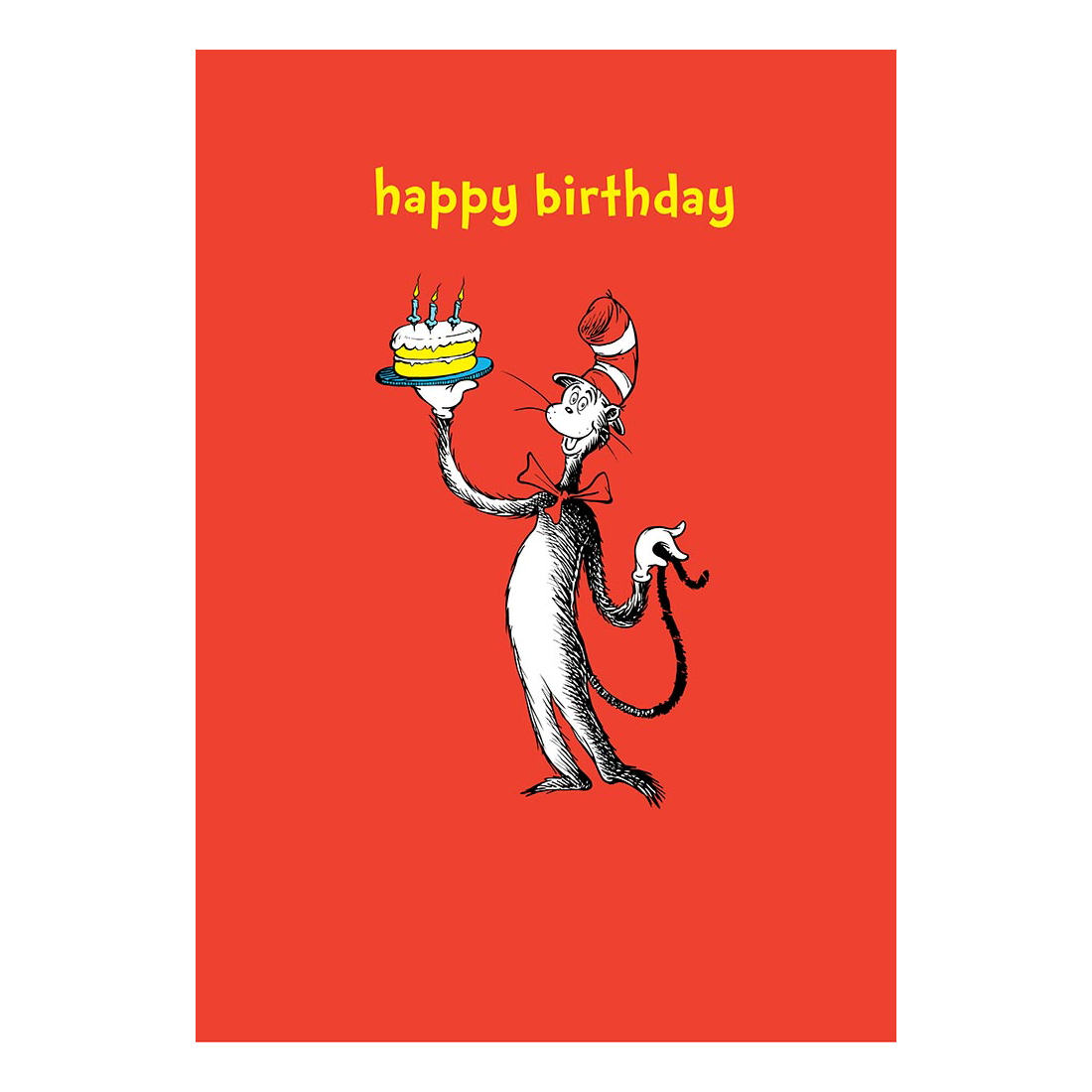 Dr Seuss Happy Birthday Greeting Card T Cat In The Hat