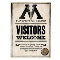 MINISTRY OF MAGIC A5 SMALL STEEL SIGN HARRY POTTER WIZARD ...