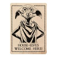 HARRY POTTER HOUSE ELVES WELCOME A5 STEEL SIGN TIN PICTURE ...