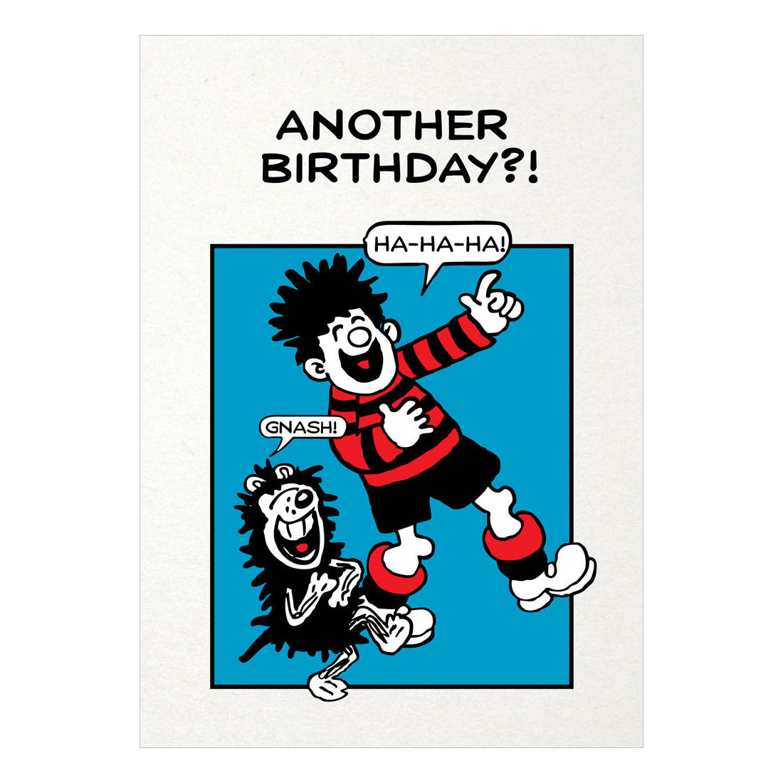 DENNIS & GNASHER ANOTHER BIRTHDAY? GREETING CARD GIFT