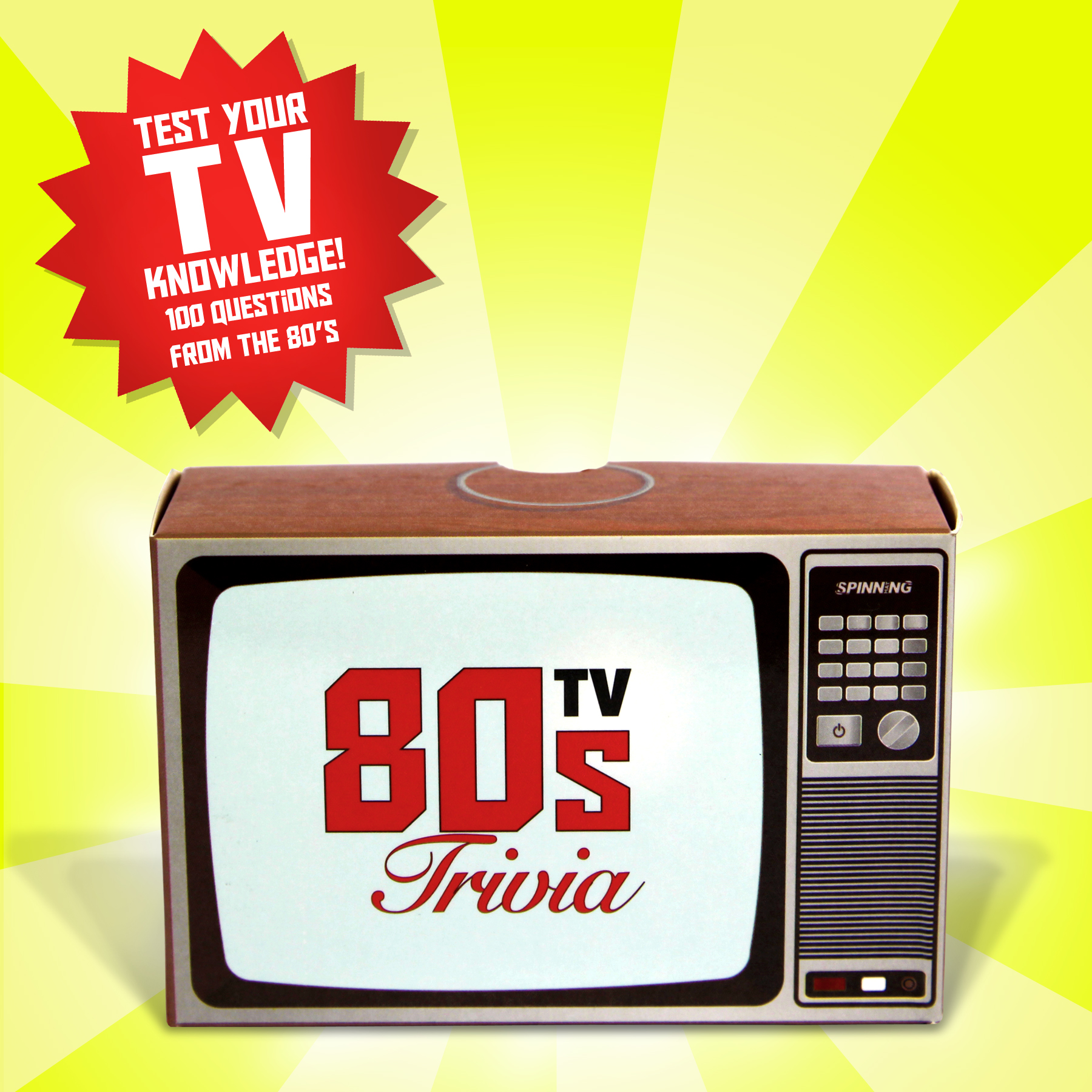 New S Tv Trivia 100 Cards Game Puzzle Retro Quiz Novelty Television Party