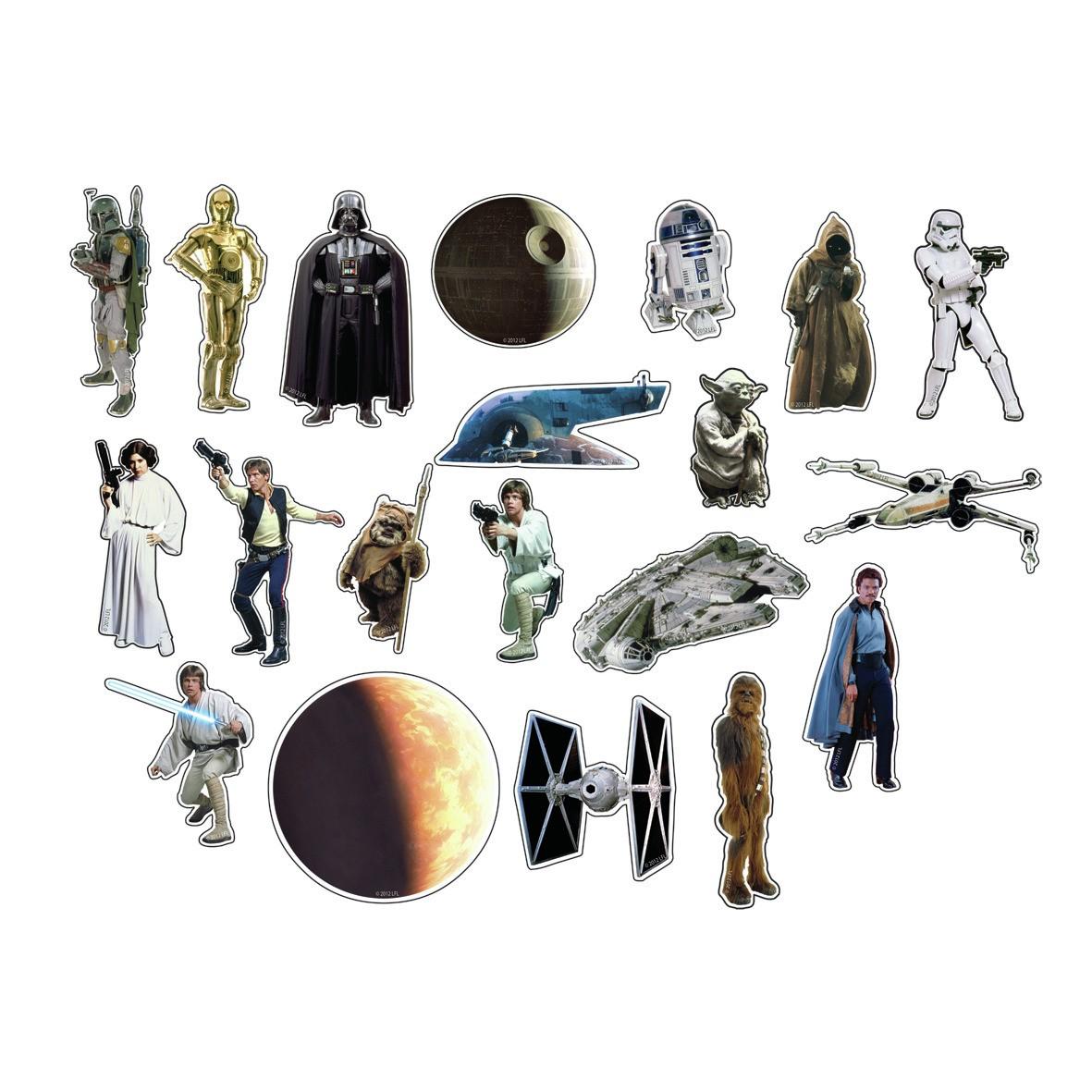 New Star Wars Classic 20 Pc Cut Magnet Set Vader Ewok