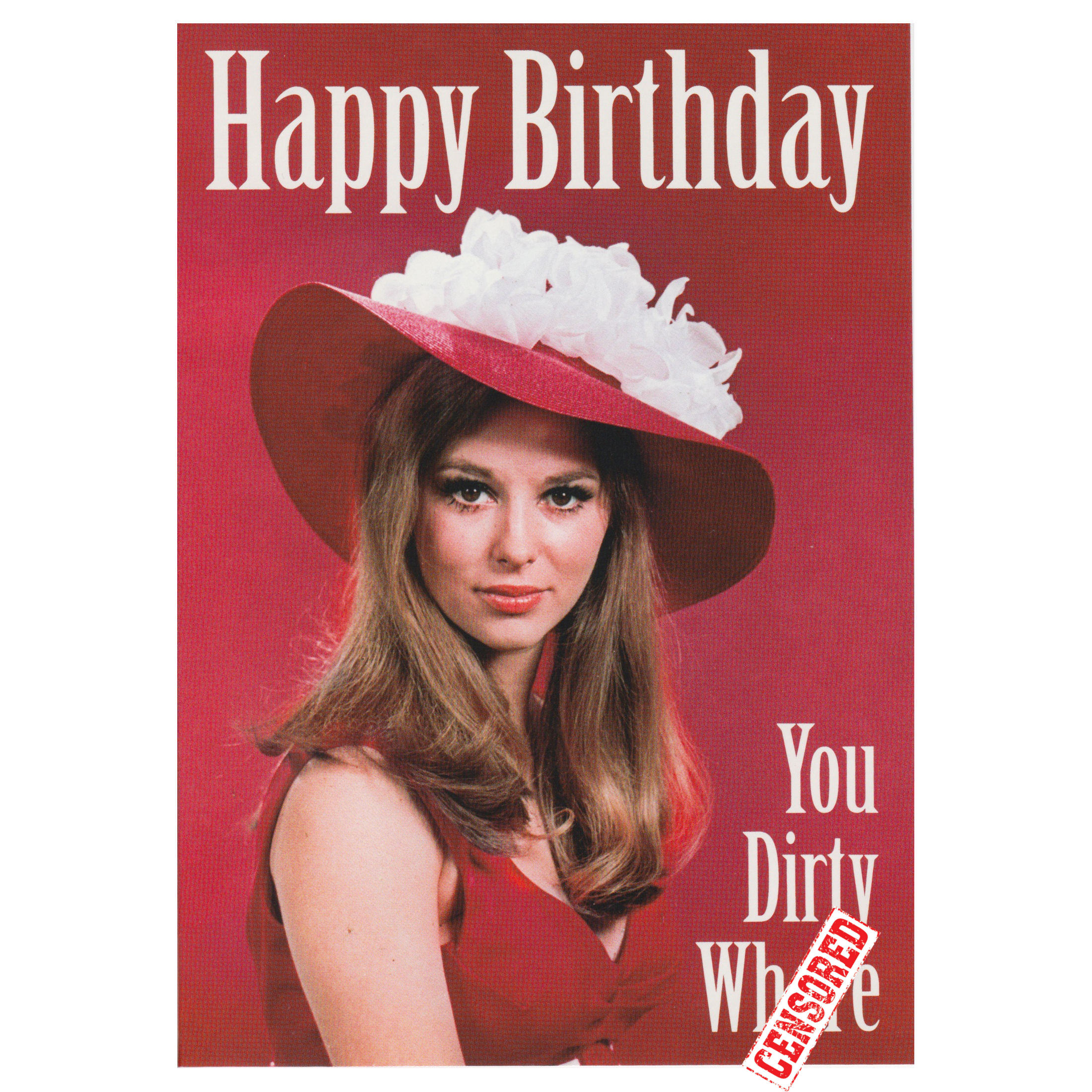 happy birthday woman retro