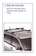 PEUGEOT 4007 ROOF RAIL CROSS BARS [Fits all 4007 models] 2 ...