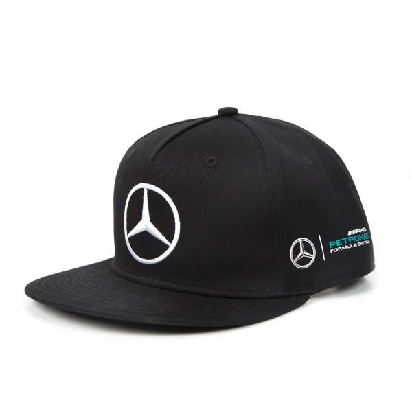 2017 Lewis Hamilton Flatbrim Cap Black Monster Mercedes