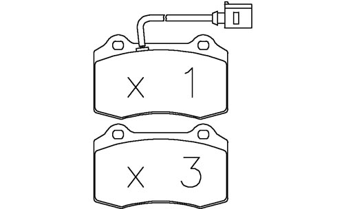 /OMP FRONT BRAKE PADS FIAT COUPE 2.0 20V TURBO 96-03 (OT
