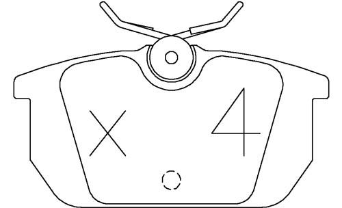 /ALFA ROMEO SPIDER 2.0 V6 TURBO 96- OMP BRAKE PADS 971C
