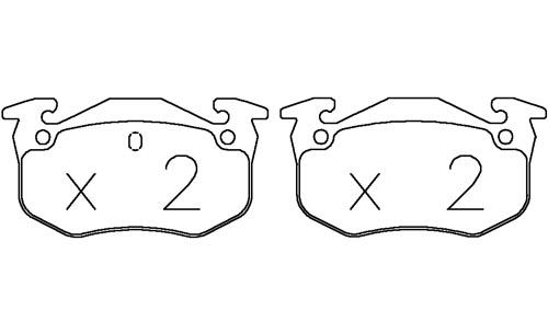 /CITROEN ZX 1.9 91-97 OMP BRAKE PADS 971C RACING CARBON
