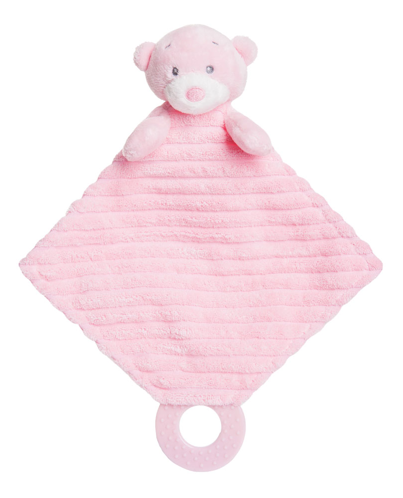 Aurora Baby Bear PLUSH Soft Toy teddy Pink Blue Cream