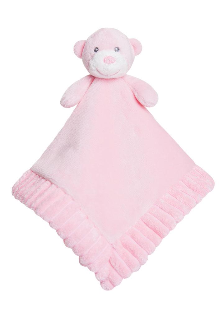 Aurora Baby Bear PLUSH Soft Toy teddy Pink Blue Cream