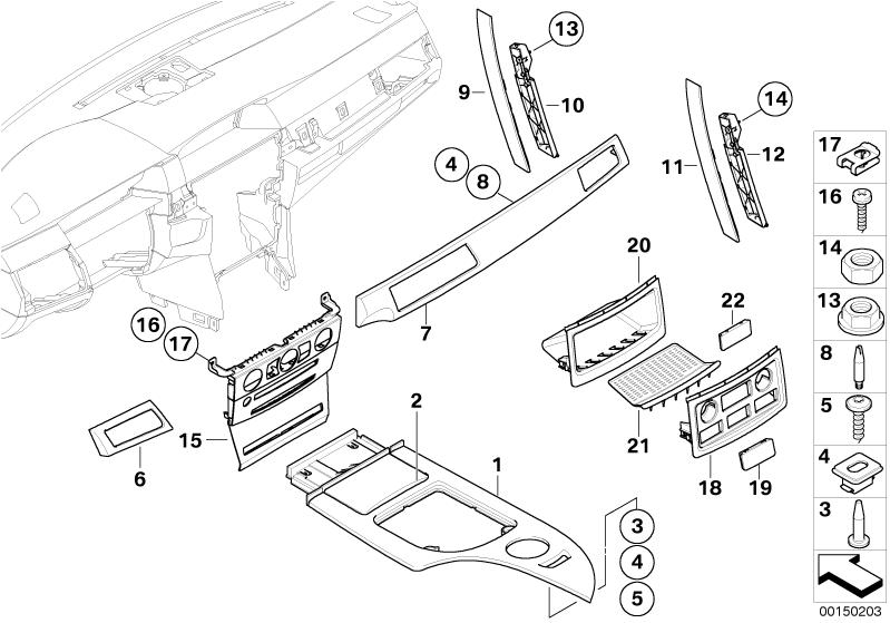 BMW Genuine Centre Console M Trim Strip for Ashtray E60