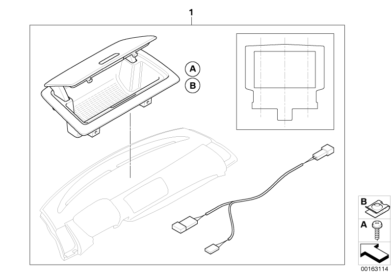 BMW Genuine Dashboard Panel Storage Tray Kit E81/E82/E87