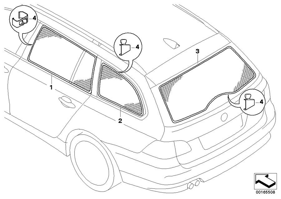 BMW Genuine Car Rear Window Sun Screen/Shade/Blind F10 5