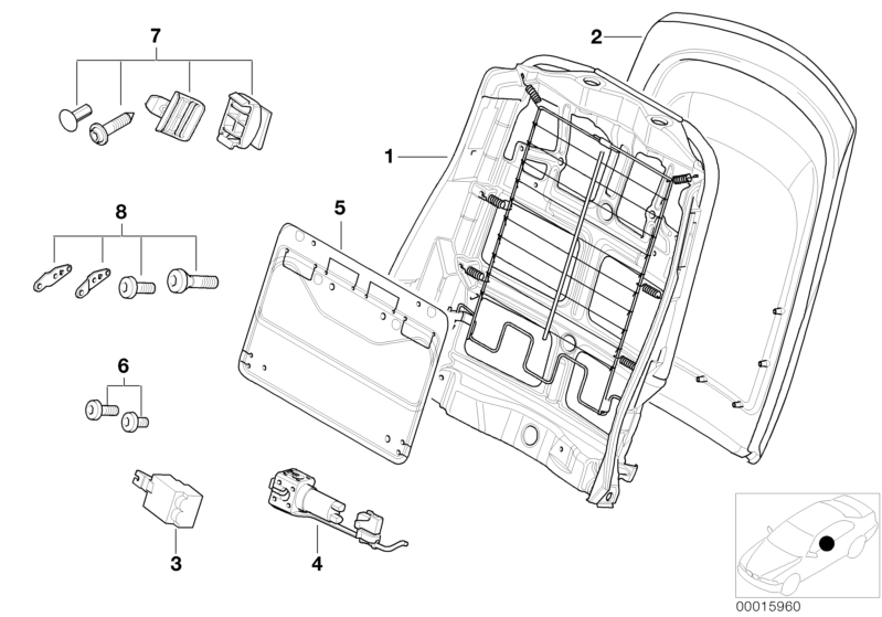 BMW Genuine Front Seat Panel+Storage Net Bag Black E46 3