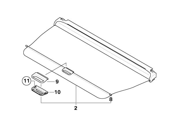 BMW Genuine Boot/Trunk Luggage/Cargo Room Dividing Roller