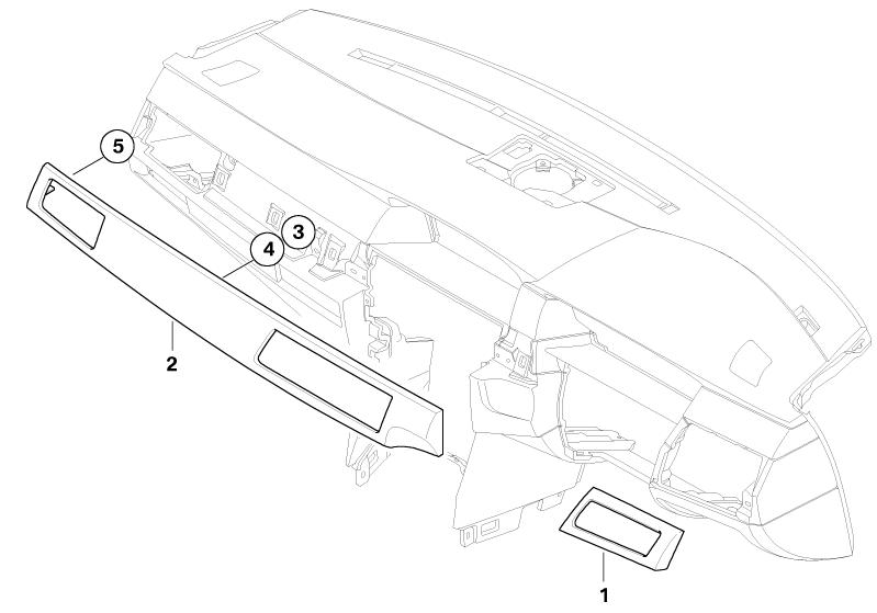 BMW Genuine Dashboard Panel Trim Left Aluminium E60/E61 5