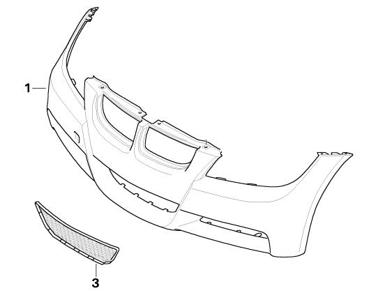 BMW Genuine M Front Lower Bumper Grille Panel Trim E90/E91