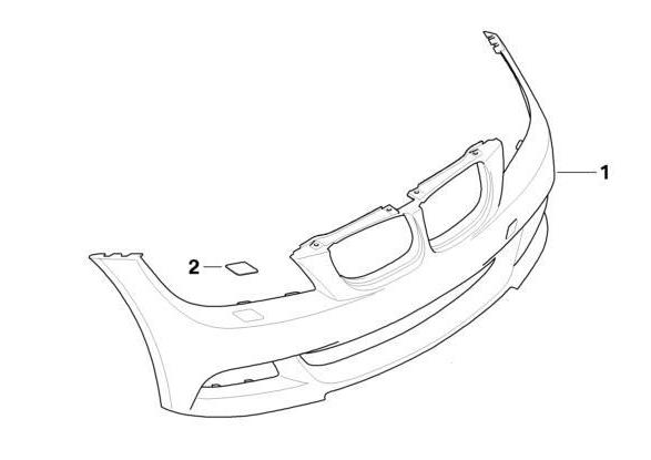 BMW Genuine M Sport Headlight Washer Cover Right E92/E93 3