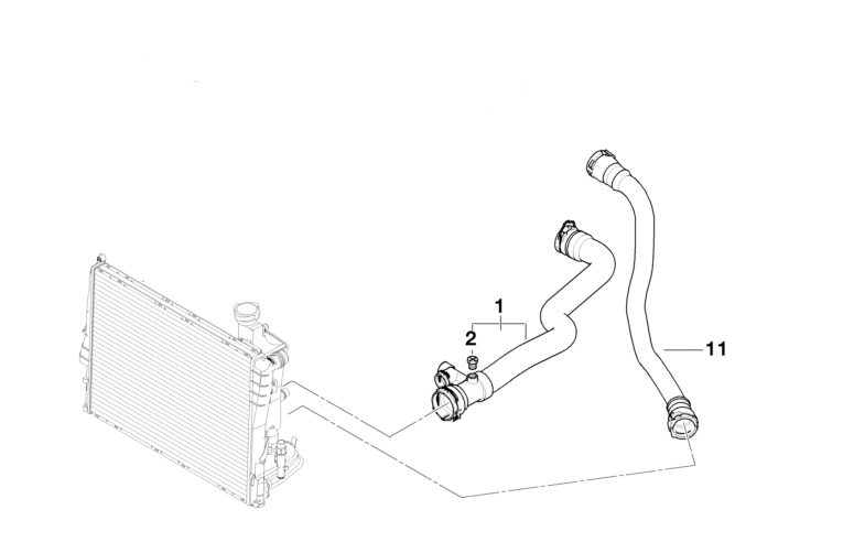BMW Genuine Cooling System Water Hose/Pipe E46 11532247852