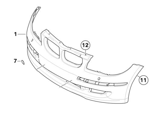 BMW Genuine M Front Bumper Towing Eye Cover Primed E90/E91