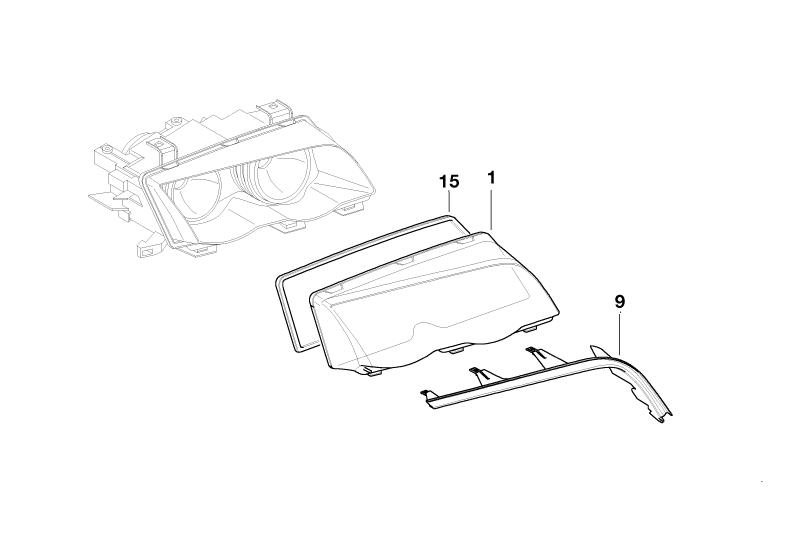 BMW Genuine Xenon Light Headlight/Headlamp Cover Strip