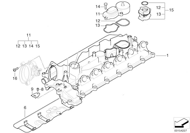 BMW Genuine Crankcase Filter Oil Breather for M57N Diesel