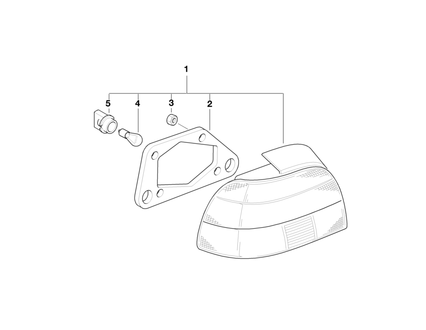 BMW Genuine Rear Light/Lamp Bulb Socket/Holder Yellow