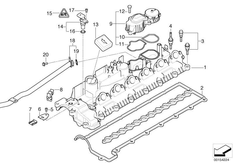 BMW Genuine Crankcase Filter Oil Breather E60/E61