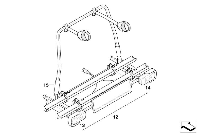 MINI Genuine Rear Carrier Rack Tow Bar Lighting Set R50