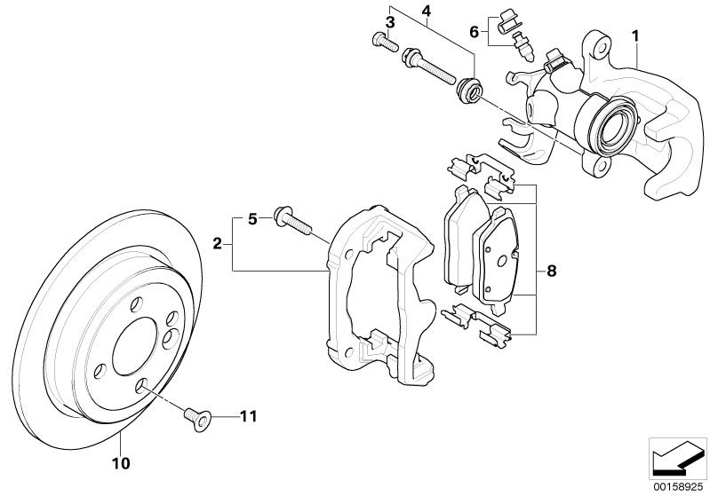 MINI Genuine JCW Rear Metal Brake Caliper Carrier