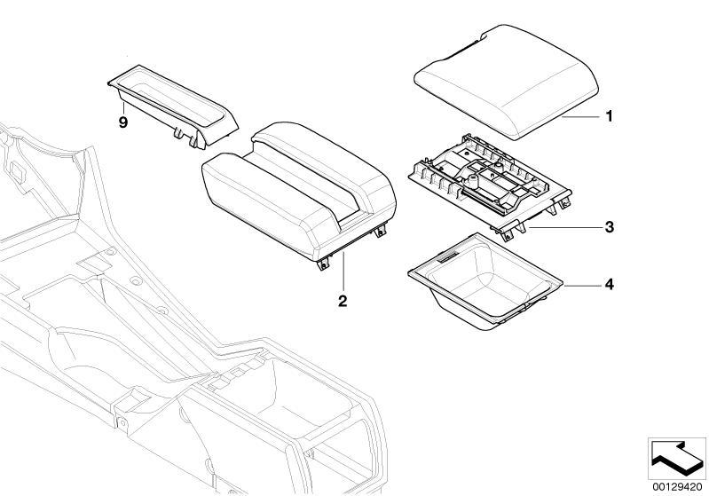 BMW Centre Console Armrest Tray E38/E39/E53/E65/E66 5/7