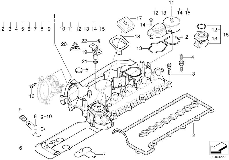 BMW Genuine Engine Oil Filler Neck Sealing Cap 11127509328
